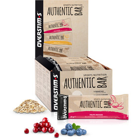 OVERSTIM.s Authentic Boîte de barres 30x65g, Red Berries